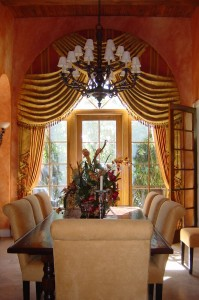 2 Story Arched Window treatment