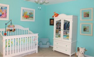 Nursery with tropical theme for boy or girl