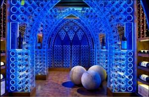 Lucite wine room